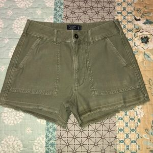 Abercrombie & Fitch Green Shorts